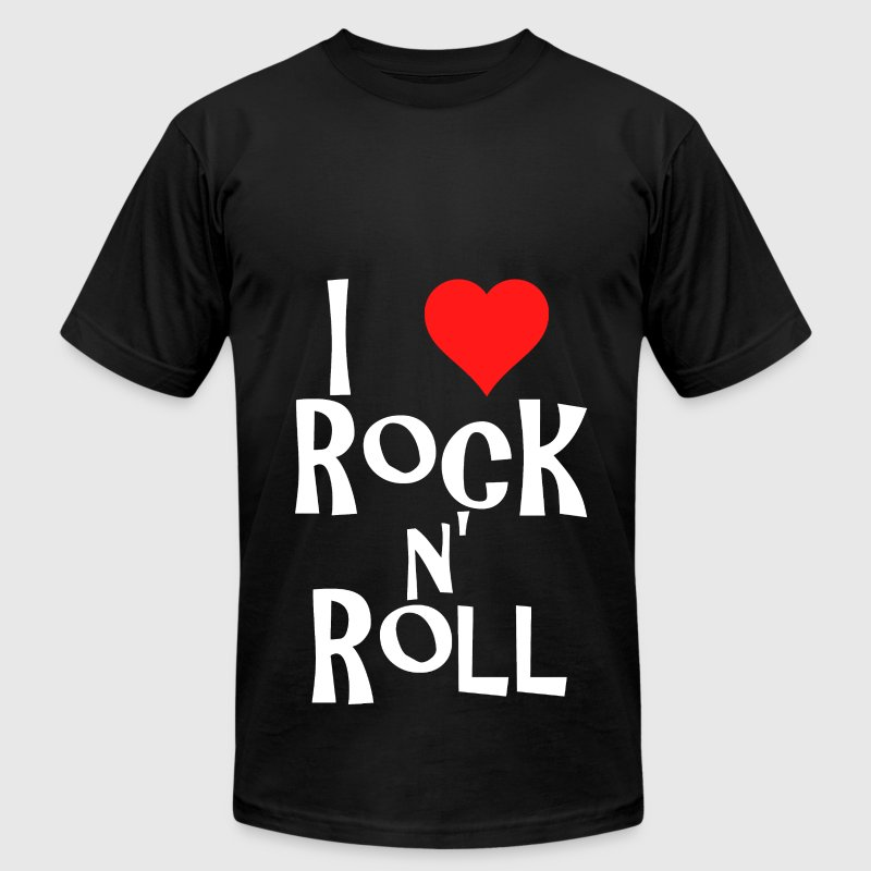 i love rock n' roll T-Shirts - Men's T-Shirt by American Apparel