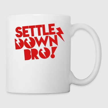 SETTLE DOWN BRO brothers with lightning bolt Phone & Tablet Covers - Coffee/Tea Mug