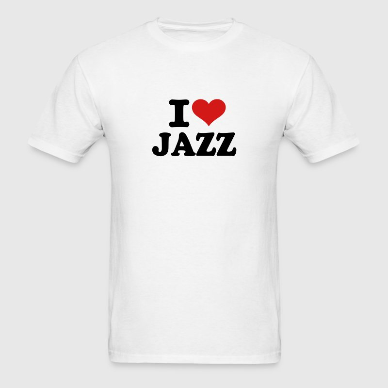 I love Jazz T-Shirts - Men's T-Shirt