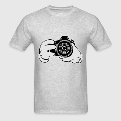 Gloved Hands Snapshot (Vectored) Long Sleeve Shirts - Men's T-Shirt