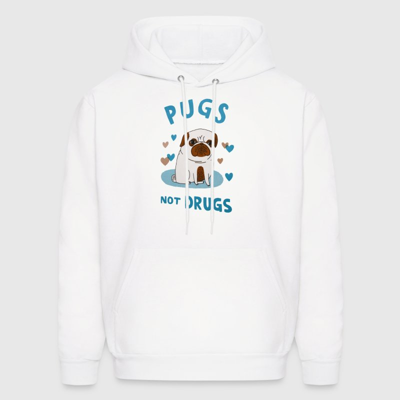 Pugs. Not drugs. Hoodies - Men's Hoodie