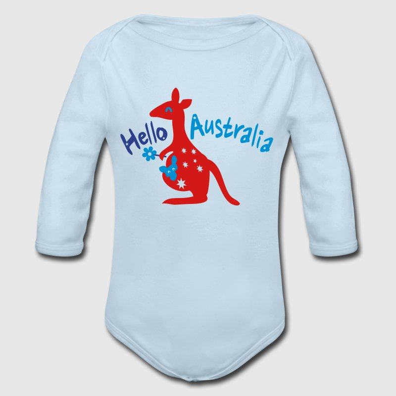 Hello Australia Baby Long Sleeve One Piece - Long Sleeve Baby Bodysuit
