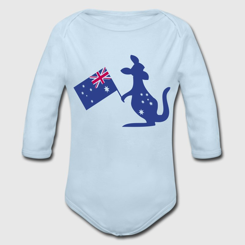 Australian animal kangaroo Baby Long Sleeve One Pi - Long Sleeve Baby Bodysuit