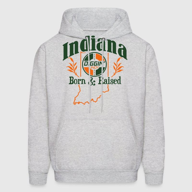 Indiana Born & Raised - Men's Hoodie