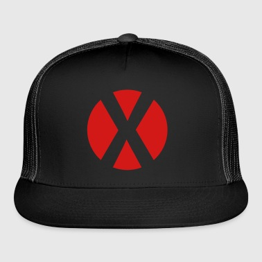 cross reversed in a circle crosses x Bags  - Trucker Cap