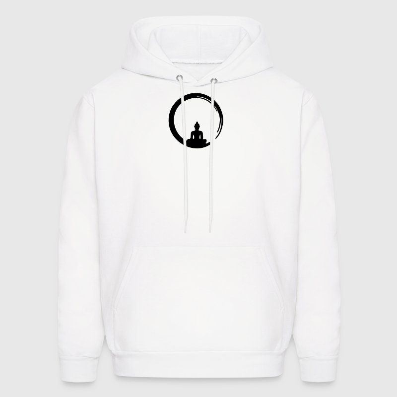 Enso, Zen, meditation, Buddha, Buddhism, Japan Hoodies - Men's Hoodie