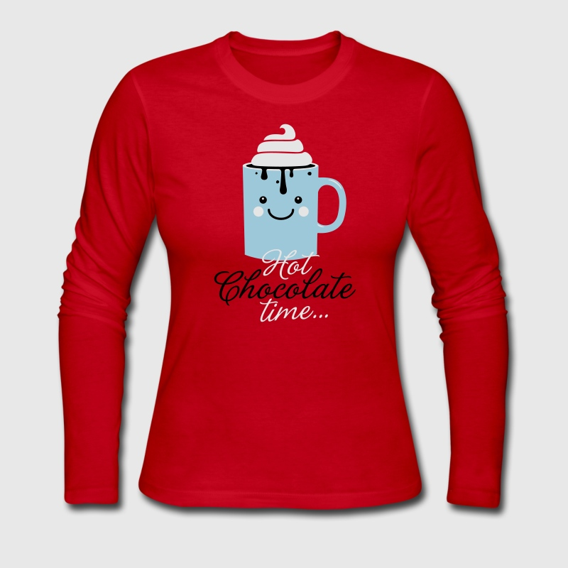 i heart hot chocolate winter holiday food t-shirts Long Sleeve Shirts - Women's Long Sleeve Jersey T-Shirt