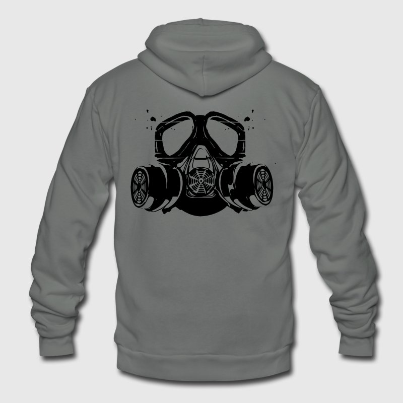 gas mask Zip Hoodies/Jackets - Unisex Fleece Zip Hoodie