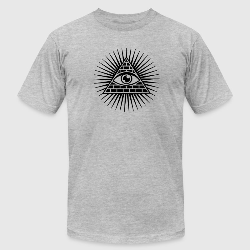 eye of providence, pyramid, all seeing eye, god T-Shirts - Men's T-Shirt by American Apparel