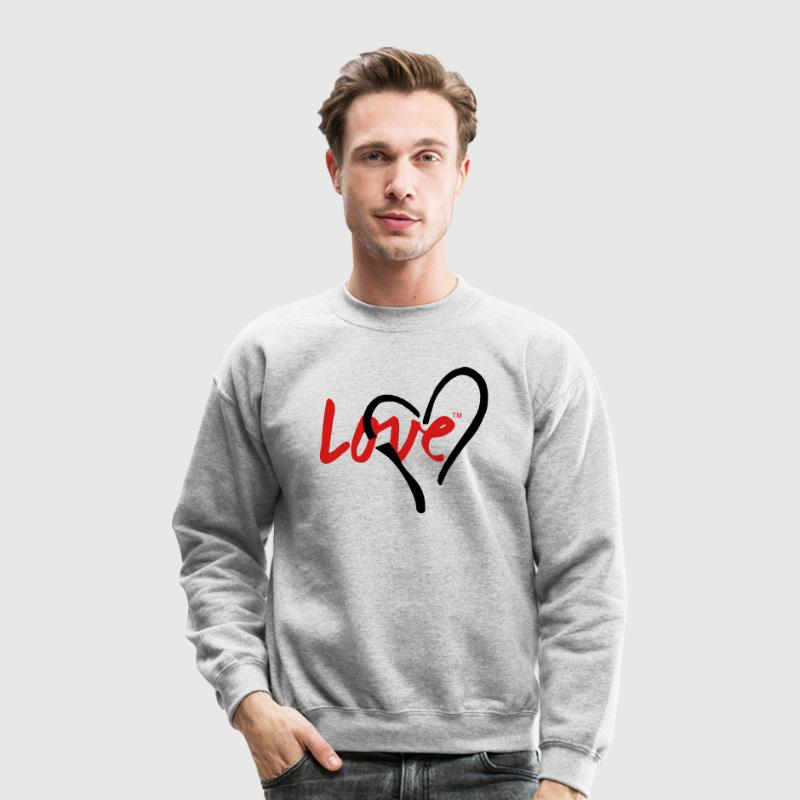 LOVE HEART Long Sleeve Shirts - Crewneck Sweatshirt