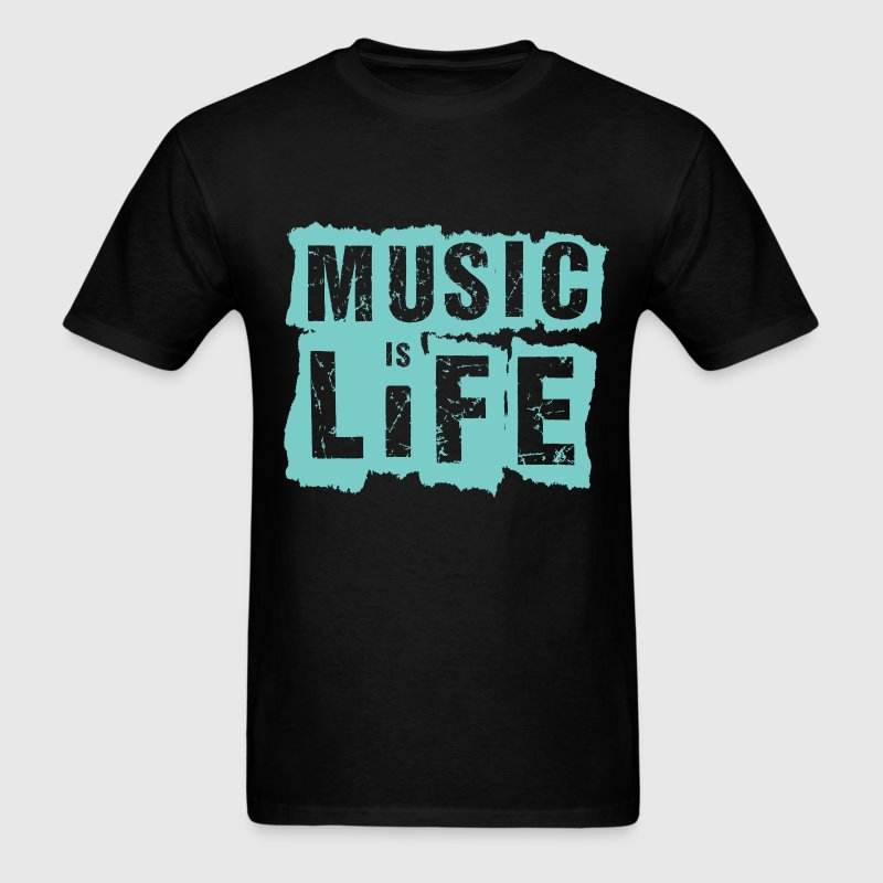 Music is life t shirt spreadshirt Music shirt design ideas