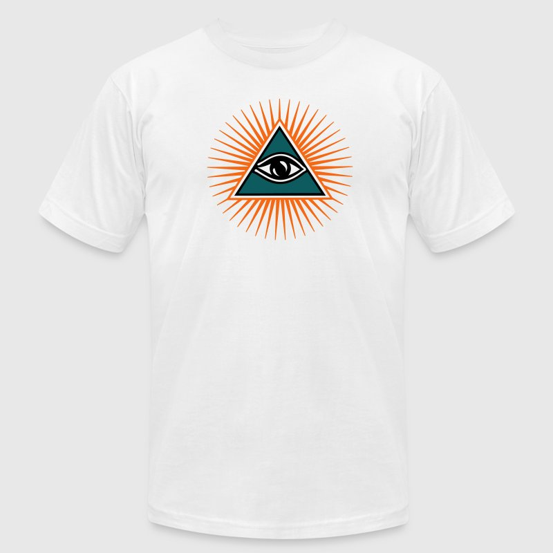 all seeing eye 1-3 colors - symbol omniscience T-Shirts - Men's T-Shirt by American Apparel