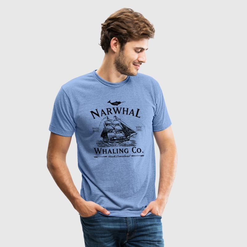 The Narwhal Whaling Company T-Shirts - Unisex Tri-Blend T-Shirt by American Apparel