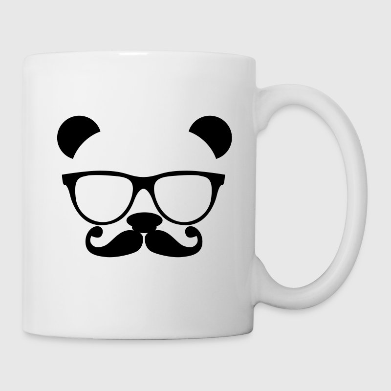 Panda with glasses and mustache Accessories - Coffee/Tea Mug
