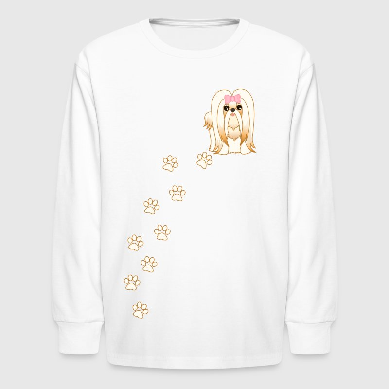 Long Hair Shih Tzu Dog - Kids' Long Sleeve T-Shirt