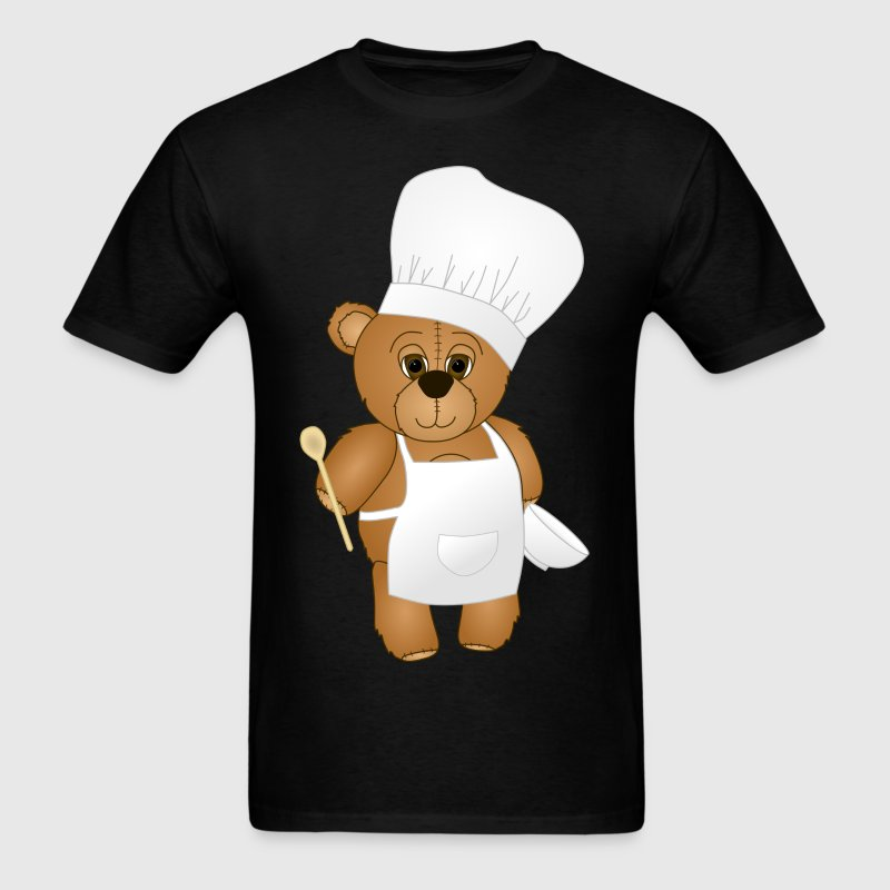 Cute Chef Teddy Bear - Men's T-Shirt
