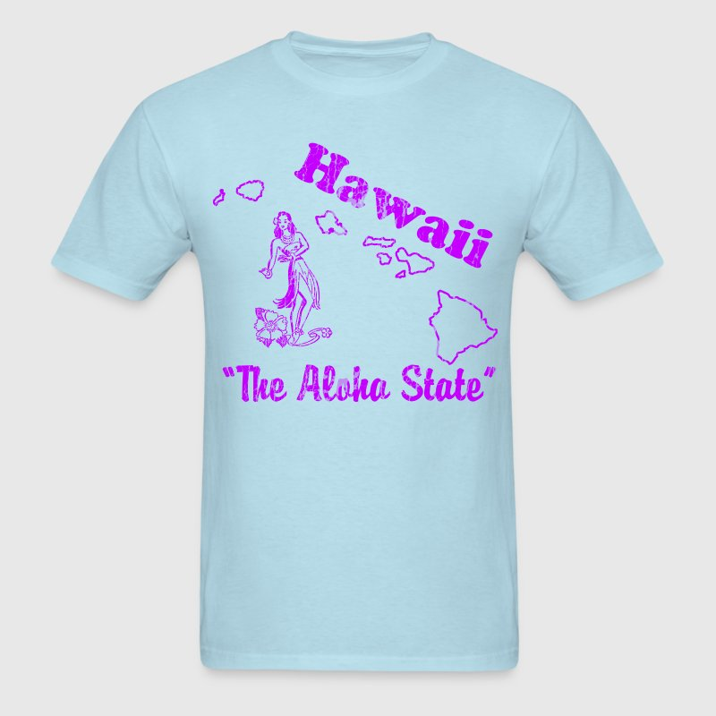 Hawaii, The aloha state vintage mens T shirt - Men's T-Shirt