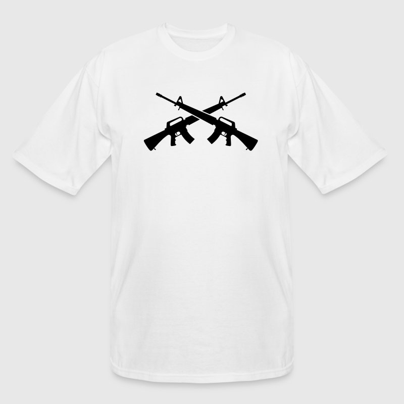 M16 Assault Rifles - Crossed - Men's Tall T-Shirt