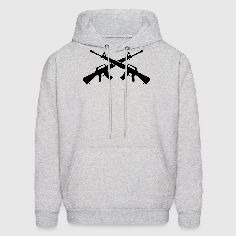 M16 Assault Rifles - Crossed - Men's Hoodie
