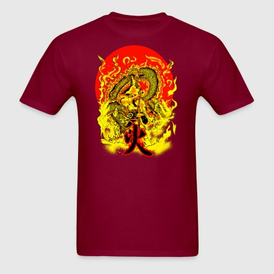 warrior and dragon Hoodies - Men's T-Shirt
