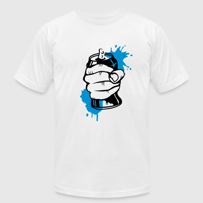 a hand crushing a soda can T-Shirts - Men's T-Shirt by American Apparel