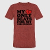 my heart beats only for my girlfriend T-Shirts - Unisex Tri-Blend T-Shirt by American Apparel