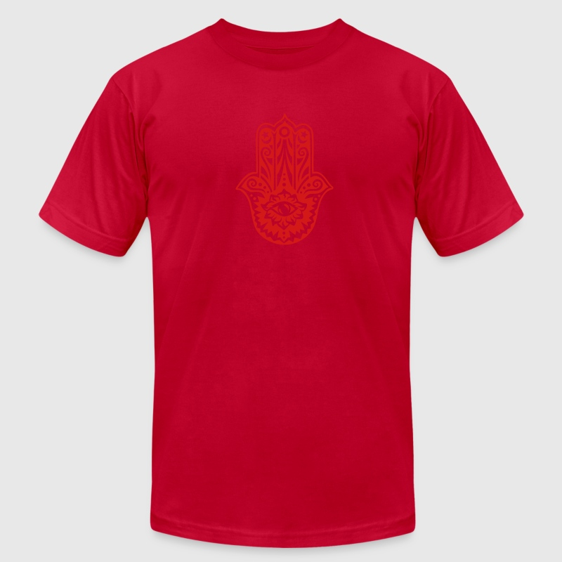 Hamsa Amulet, Hand of Fatima, Divine Protection T-Shirts - Men's Fine Jersey T-Shirt