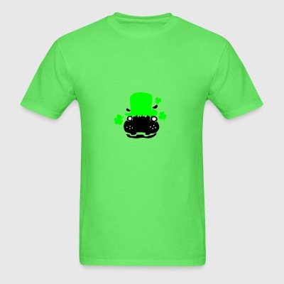 Hipo in green hat lucky charm Baby Short Sleeve On - Men's T-Shirt