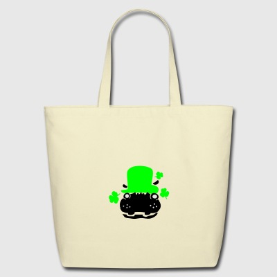 Hipo in green hat lucky charm Baby Short Sleeve On - Eco-Friendly Cotton Tote