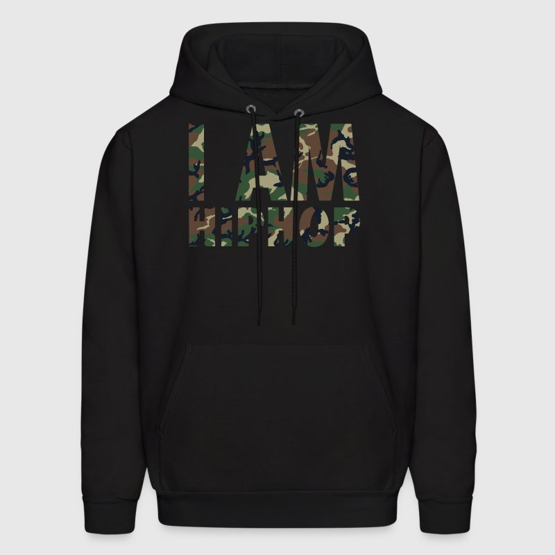 I Am Hiphop -  camo - Men's Hoodie