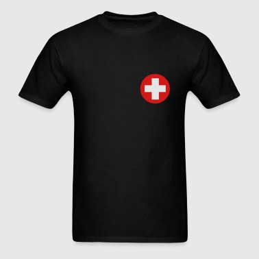 Medical Cross Symbol Zip Hoodies/Jackets - Men's T-Shirt
