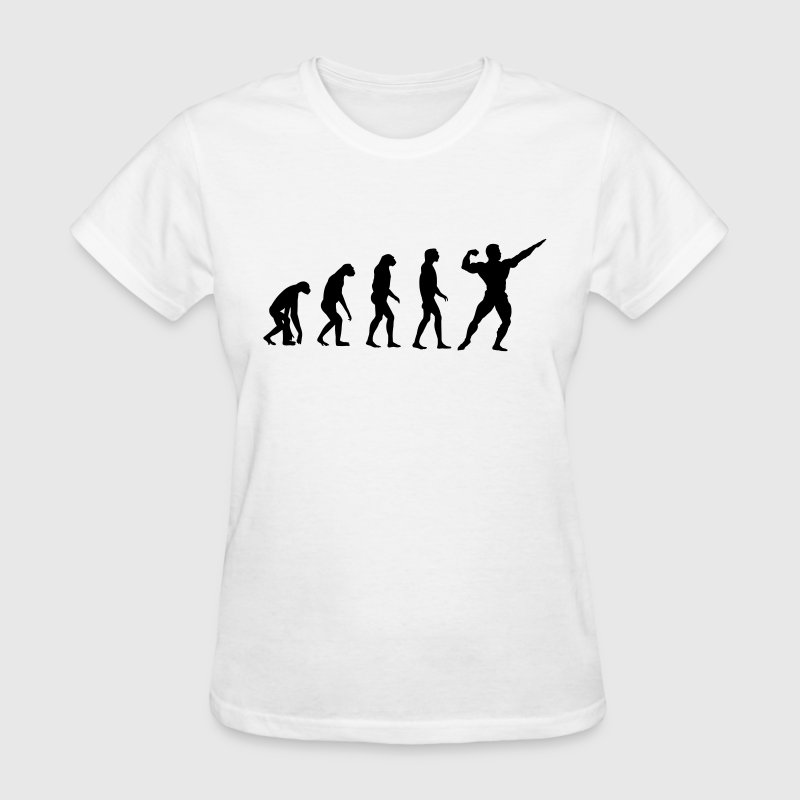 Evolved to Bodybuilding Women's T-Shirts - Women's T-Shirt