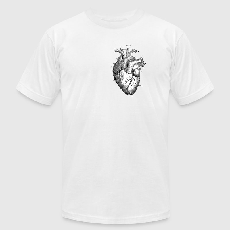 Anatomically correct heart - Men's T-Shirt by American Apparel