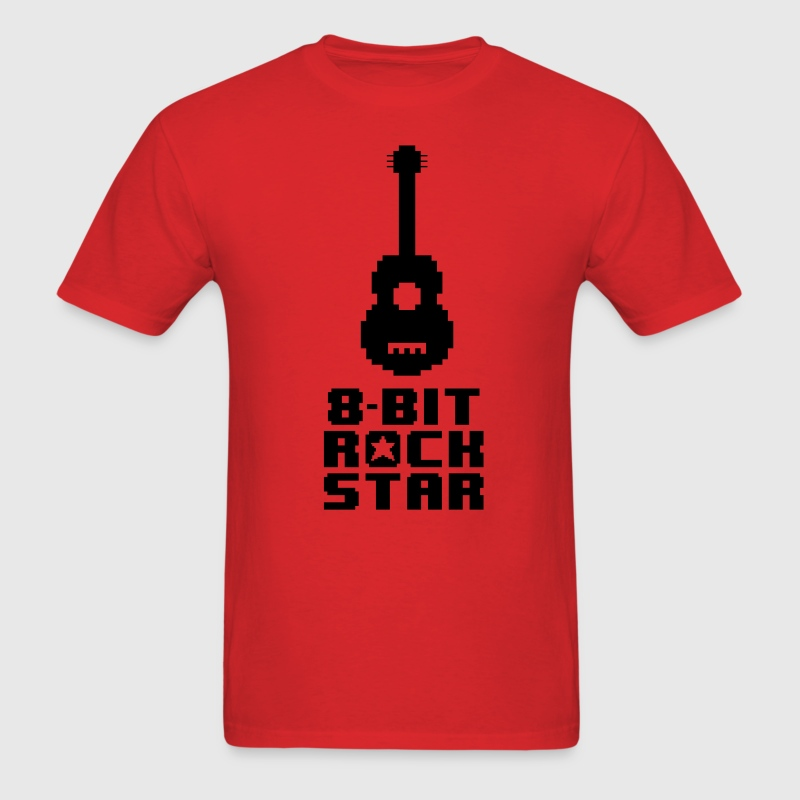 8bit Rock Star T-Shirts - Men's T-Shirt