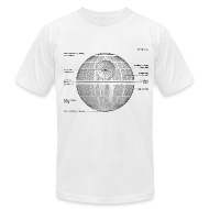 death star diagram men s t shirt by american apparel death star diagram t shirt spreadshirt shirt diagram at bayanpartner.co