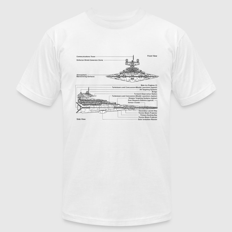 Star Destroyer diagram - Men's T-Shirt by American Apparel