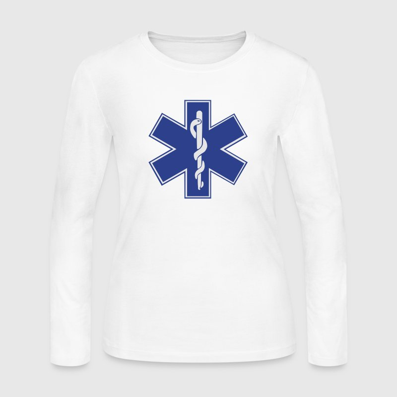 Star of Life / EMT Symbol Long Sleeve Shirts - Women's Long Sleeve Jersey T-Shirt