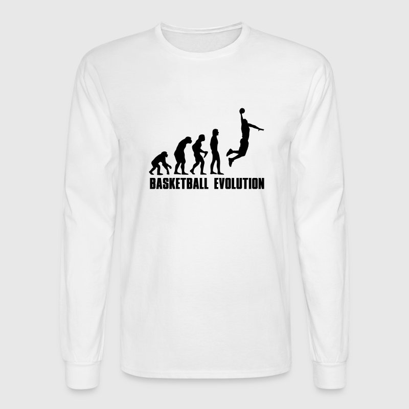 Basketball Evolution Dunk Long Sleeve Shirts - Men's Long Sleeve T-Shirt
