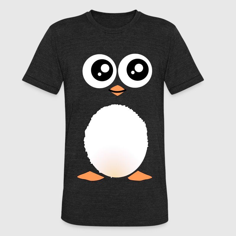 Cute Black Penguin T-Shirts - Unisex Tri-Blend T-Shirt by American Apparel
