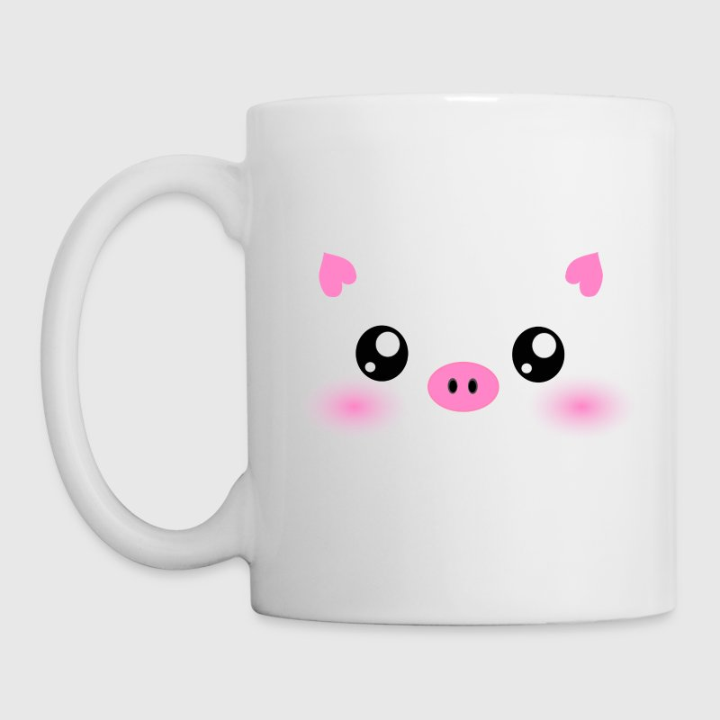 Cute Kawaii Pig face Bottles & Mugs - Coffee/Tea Mug