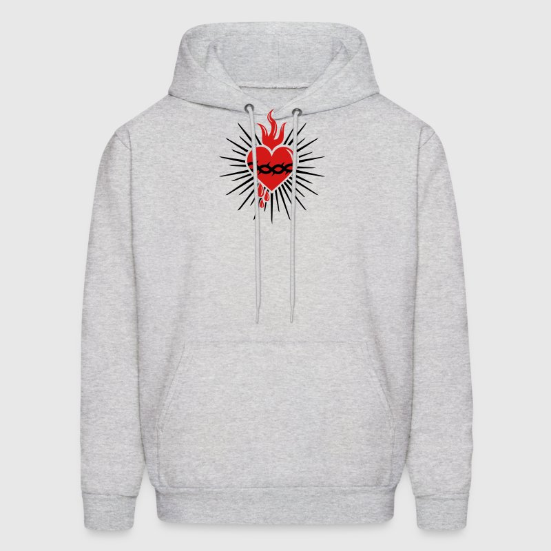Sacred Heart of Jesus -  Christ Consciousness Hoodies - Men's Hoodie