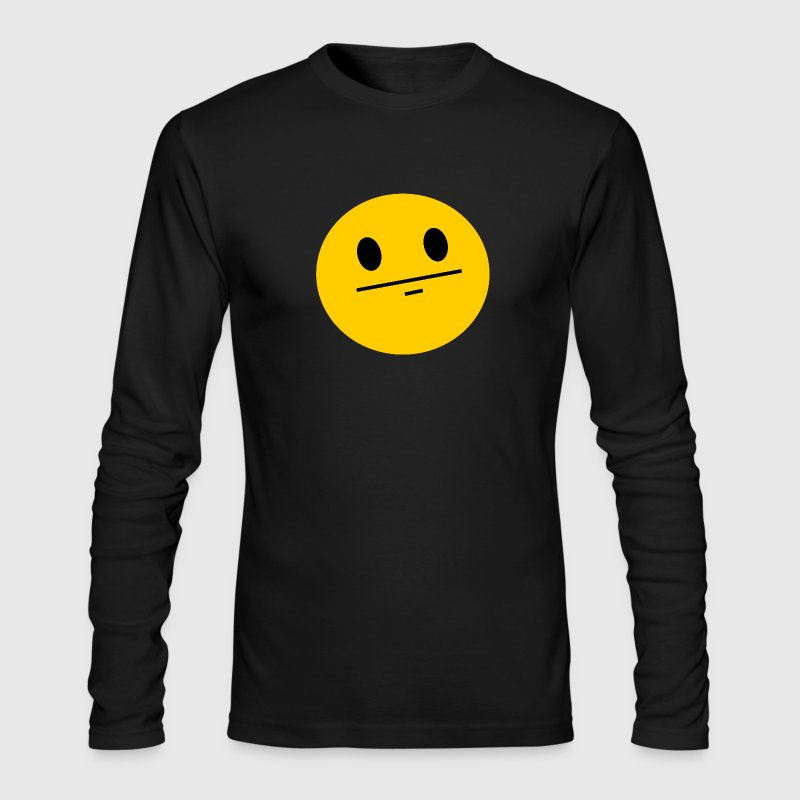 Poker Face Smiley Long Sleeve Shirts - Men's Long Sleeve T-Shirt by Next Level