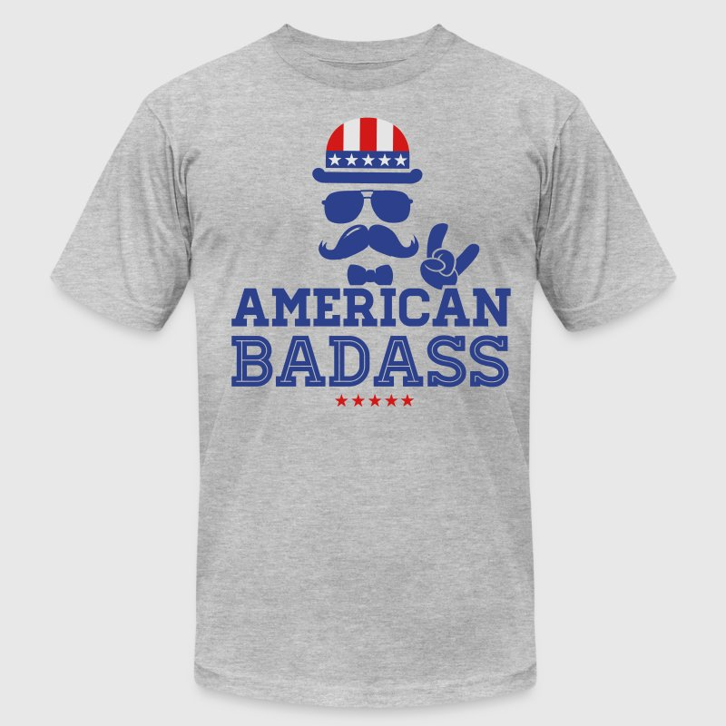 Like a USA love America American flag Badass boss T-Shirt ...