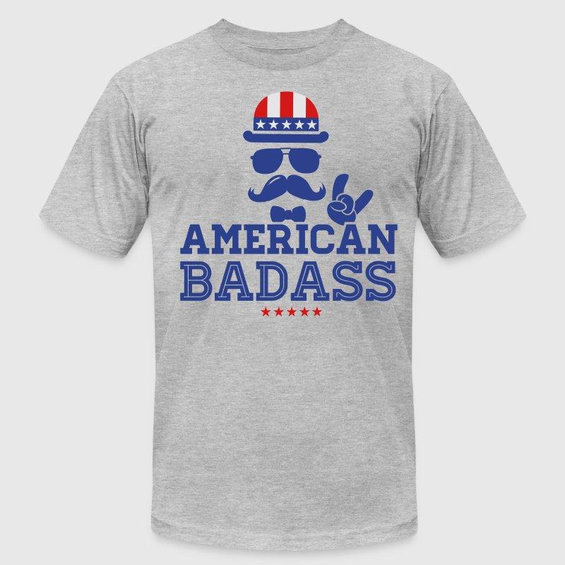 Like a USA love America American flag Badass boss T-Shirt ...