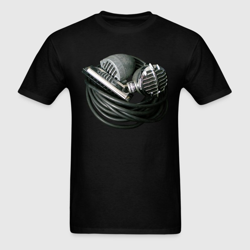 Vintage Microphones and Harmonica tee shirt - Men's T-Shirt