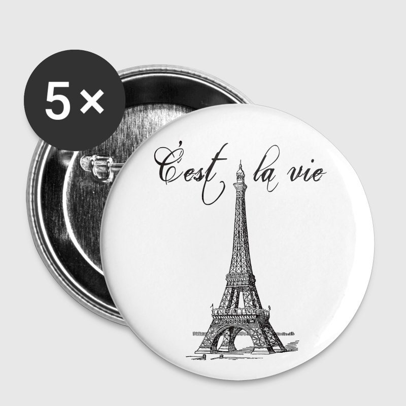 C'est la vie Eiffel Tower - Small Buttons