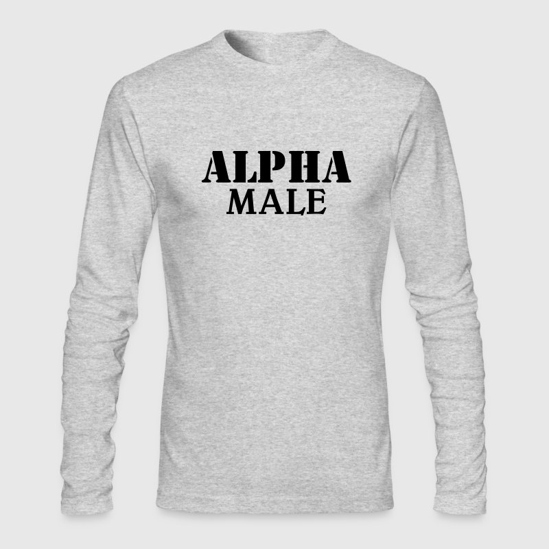 Alpha Male Long Sleeve Shirts - Men's Long Sleeve T-Shirt by Next Level