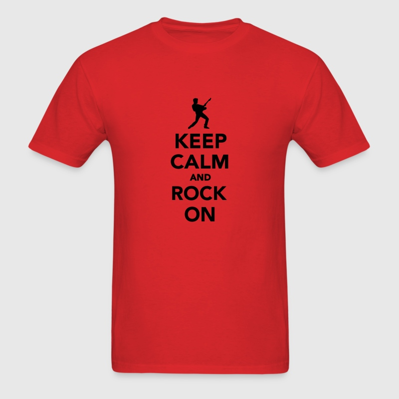 Keep calm and Rock on T-Shirts - Men's T-Shirt