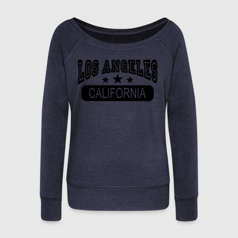los angeles california Long Sleeve Shirts - Women's Wideneck Sweatshirt