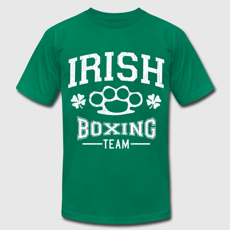 Vintage Irish Boxing Team (distressed design) - Men's T-Shirt by American Apparel
